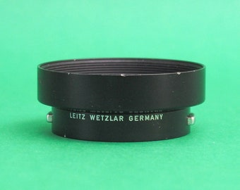 Leica metal Lens Hood for R Leica lenses - R1:2/50 and R 2.8/35. Genuine Leica. Leitz Wetzlar Germany. Part number 12564. Free shipping