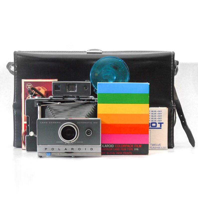 BIG Polaroid 100 Kit  Vintage instant camera Polaroid Automatic 100Land  Camera in great condition! For Fujifilm FP-100C peel apart film