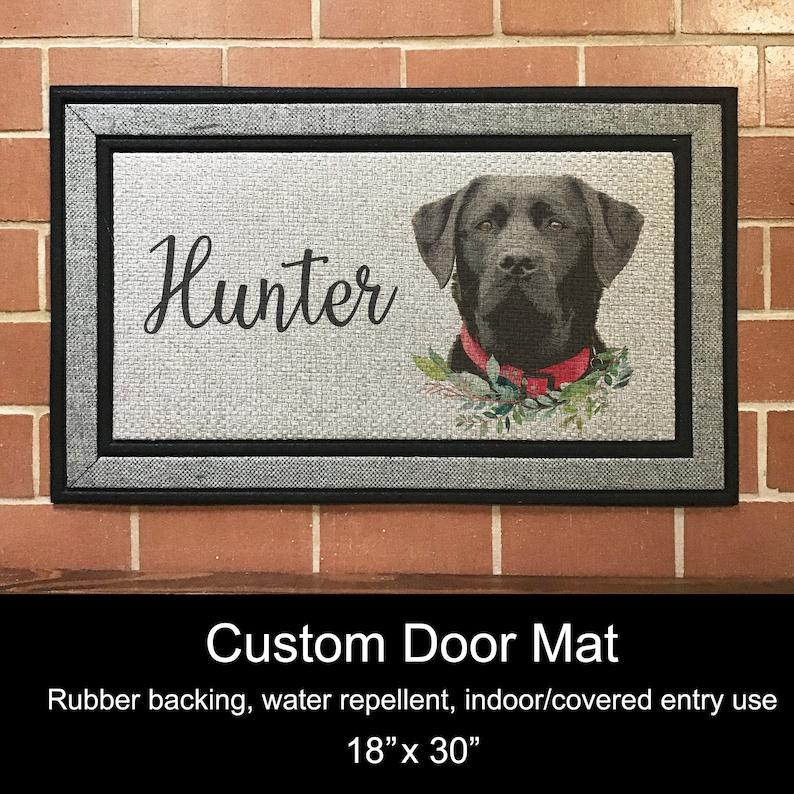 18 x 30 Custom Door Mat Black Lab