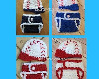 826af68effc Crochet BASEBALL Hat Set