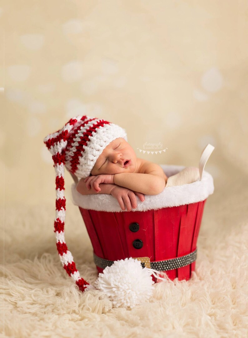 a871c38ccaf Long-Tail ELF PIXIE STOCKING Hat Christmas Photo Props