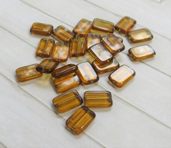 3 mm 1006 50 Golden Topaz Czech glass Fire Polished Beads