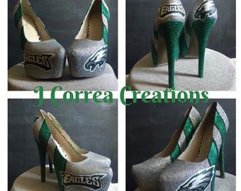 329caf2cdcf3 Custom glitter heels