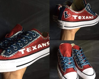 Texan Custom Converse Battle Red and Navy