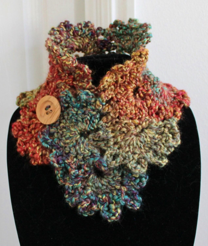 Beautiful Plum Wine Queen Anne/'s Lace Handmade Crochet Scarf