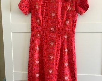 Vintage 1950s Paradise Hawaii Chinese Cheongsam Dress