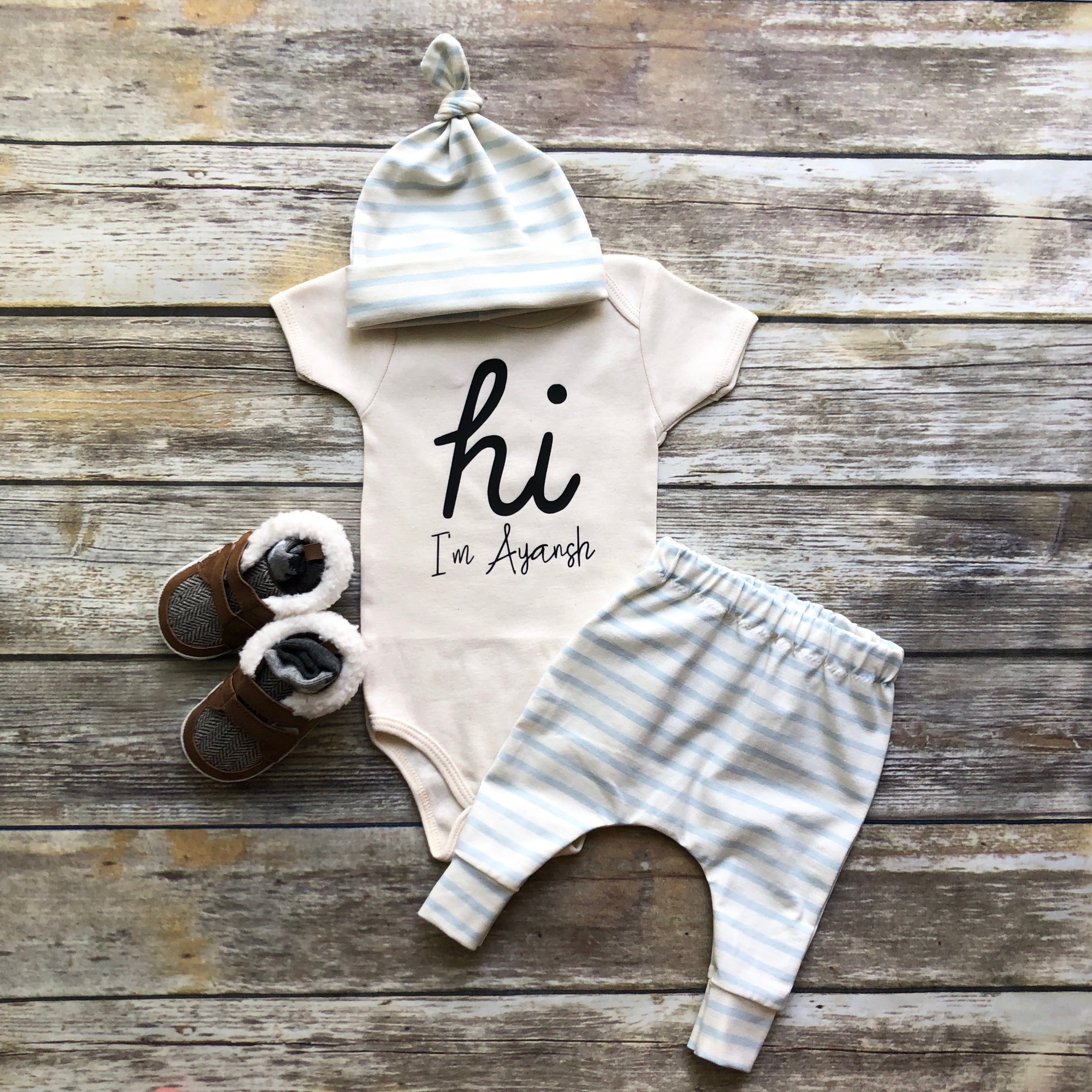 a774d87c39f7f Baby Boy Coming Home Outfit Newborn Boy Coming Home Outfit | Etsy