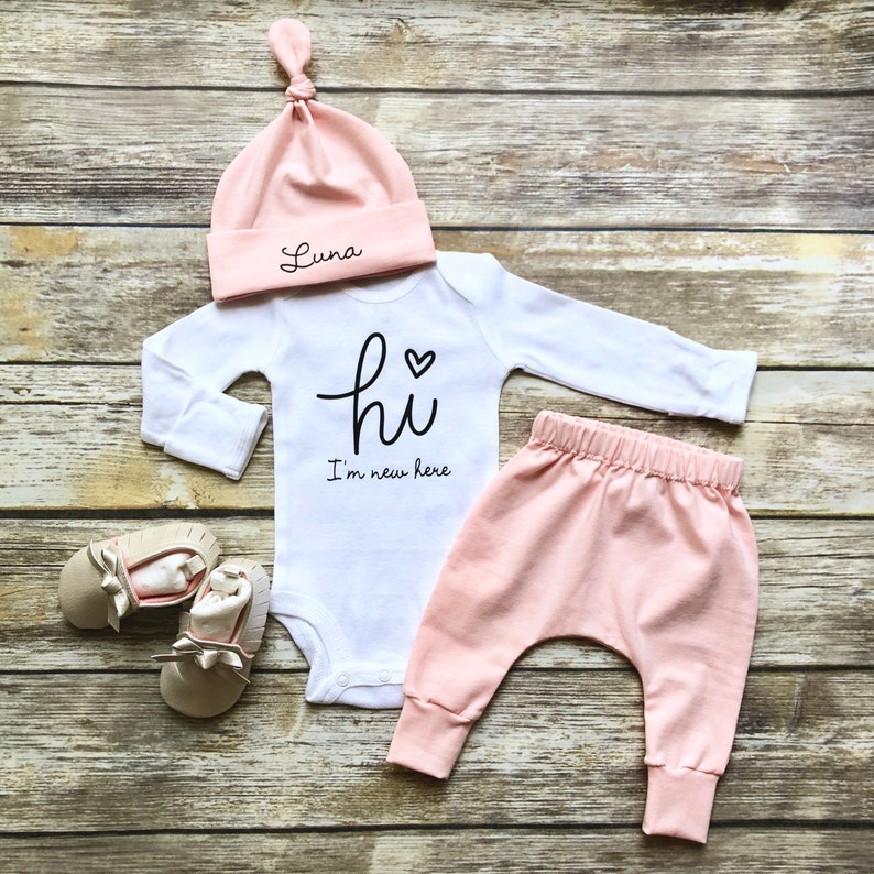 e0e028d63 Baby Girl Coming Home Outfit Newborn Girl Coming Home Outfit