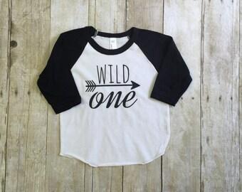 Birthday shirt, wild one shirt,  1st birthday shirt, handmade clothing by Willowbeeapparel
