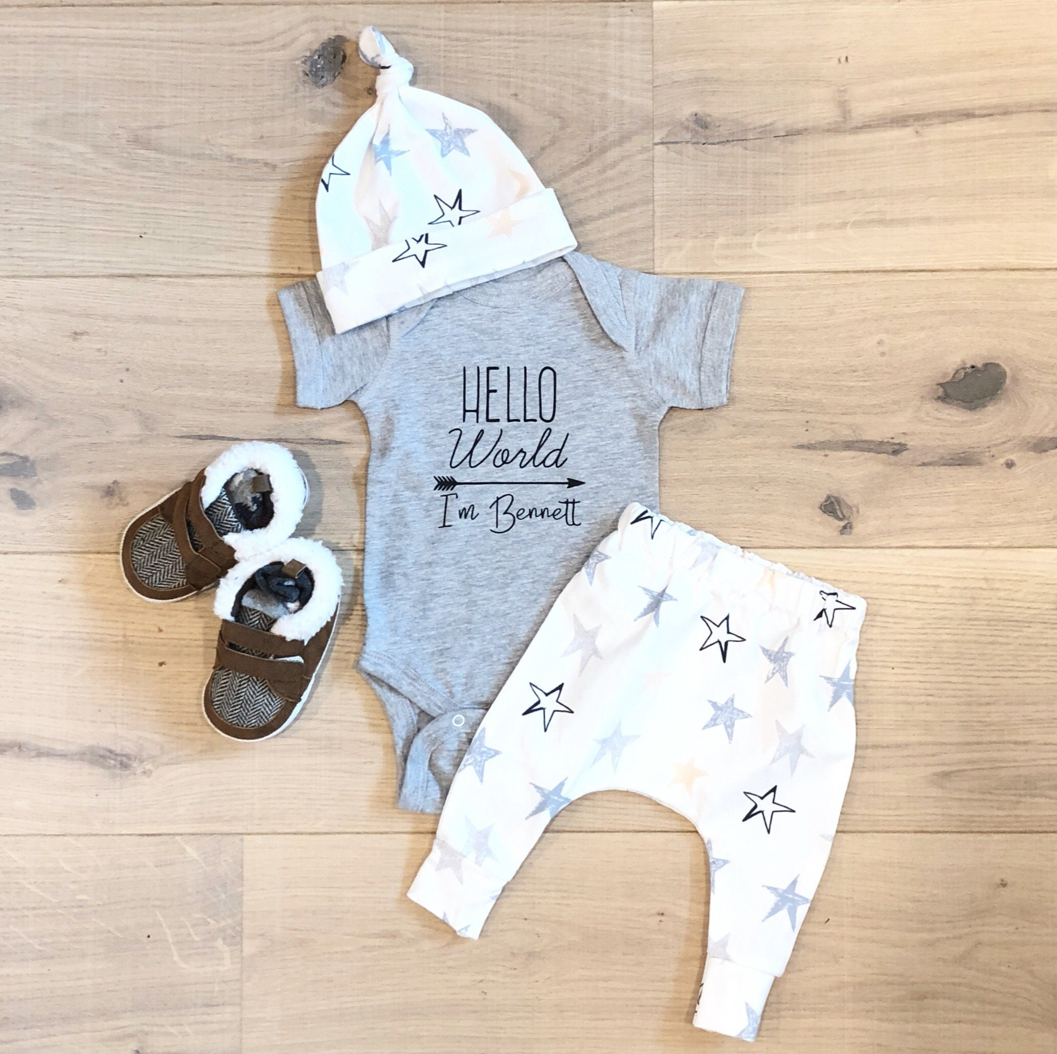6c6a81357 Baby Boy Coming Home Outfit Newborn Boy Coming Home Outfit | Etsy