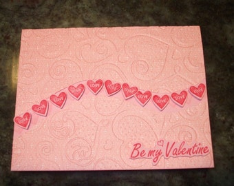 Valentine Card Happy Valentine's Day Be My Valentine Love