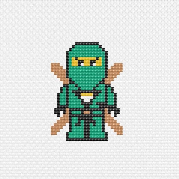 Lloyd Garmadon Green Ninja Ninjago Cross Stitch Pattern Etsy