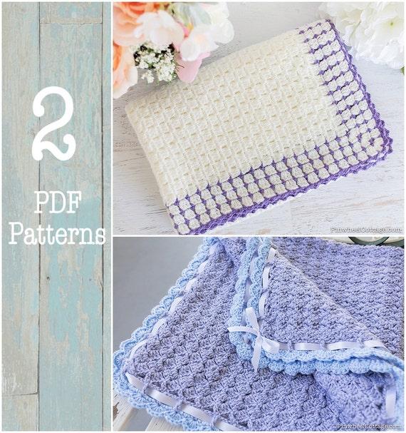 2 Crochet Patterns Crochet Baby Blankets Pattern Crochet | Etsy