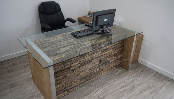 sports shoes 88485 ac966 Modern Computer Desk, Rustic Computer Desk, Glass Computer Desk, Interior  Design, Office Furniture, Reclaimed Wood Office Desk.