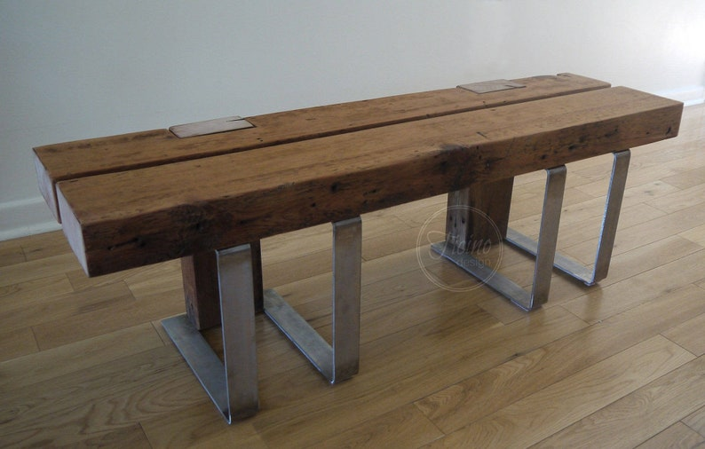 Entryway Bench. Reclaimed Wood Bench. Hallway Bench. Rustic image 0