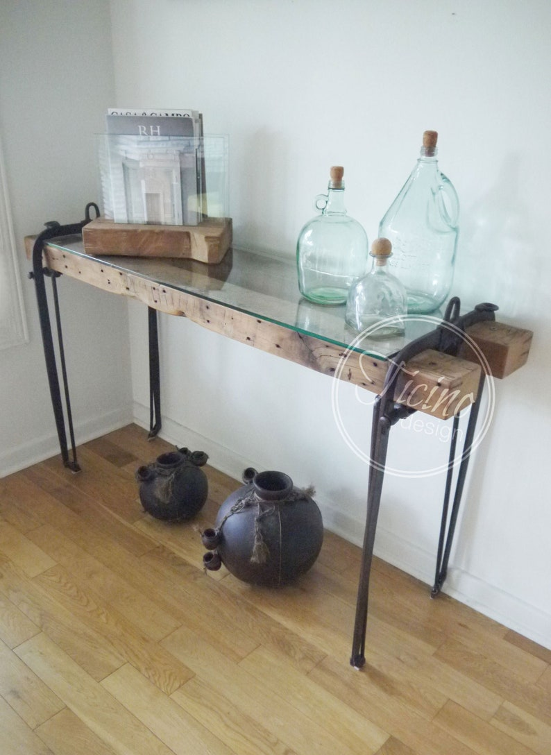 Rustic Console Table. Slimline Console. Reclaimed Wood Console image 0