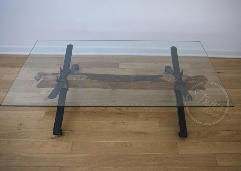 Rustic Coffee Table. Unique Coffee Table. Wood and Metal image 0