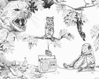 Story poster   Animals   Illustrations   Children's room