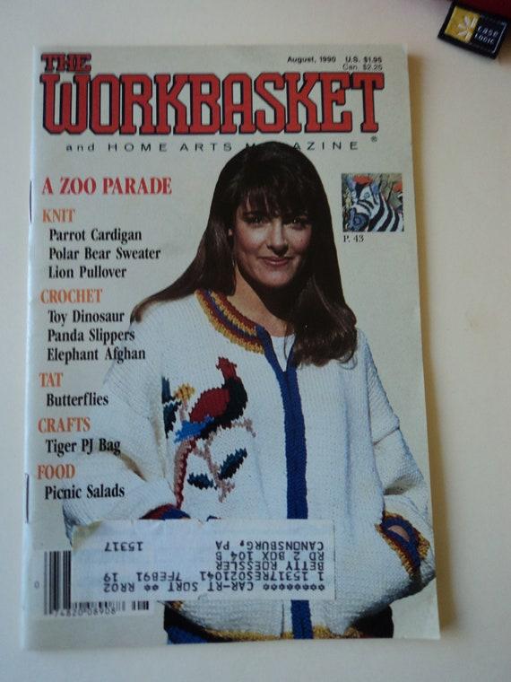 The Workbasket Magazine August 1990 Etsy