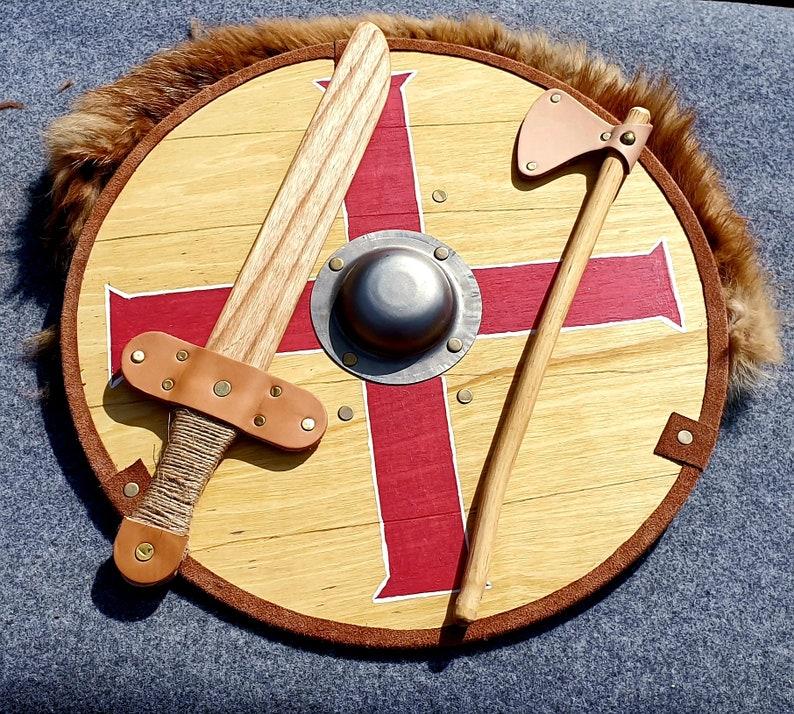 44cm Viking Shield sword and Axe