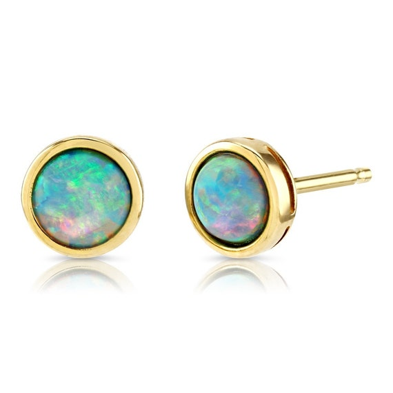 50980 Gold Alloy Opal Oval Shape Crystal Jewelry Decor Findings Crafts 5pcs