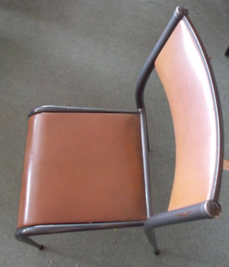 Industrial Steel Chairs Set of 6 1960/'s