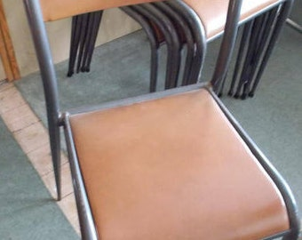 Industrial Steel Chairs Set of 6 . 1960's
