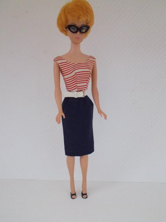 VINTAGE Original Barbie Sweater Girl Gray Skirt Completer Piece Excellent