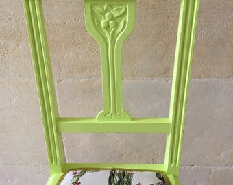 Green Hand Painted Chair