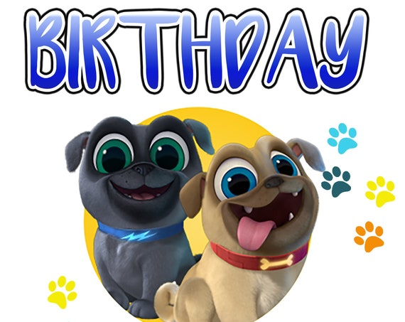 Digital Image ONLY DIY Mommy, Daddy, & Birthday Boy - Puppy Dog Pals Iron on Transfer