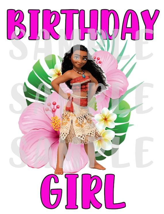 Digital Image ONLY DIY Family & Birthday Girl - Moana Iron on Transfer