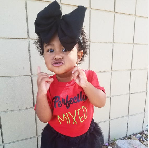 Perfectly Mixed Melanin tshirt toddler kids girls shirts