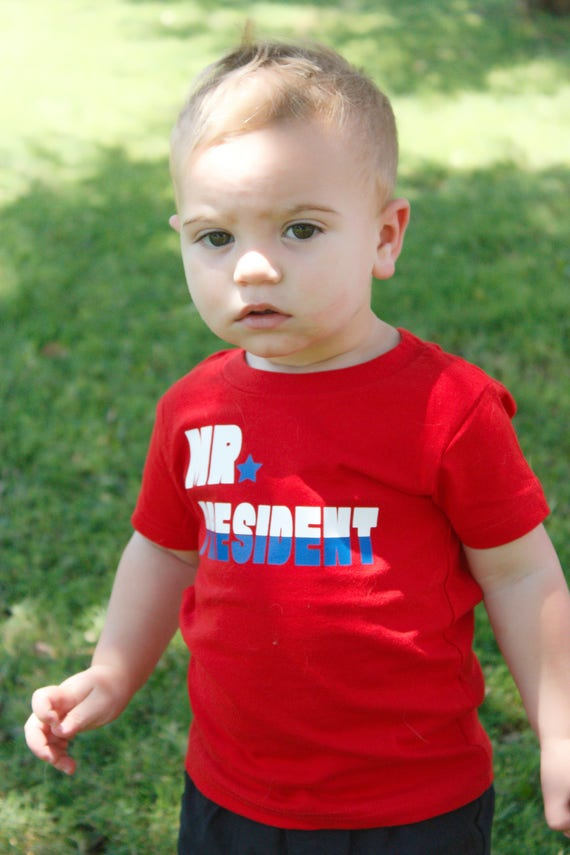 Mr President Patriotic Independence Day tshirt toddler kids boy shirts