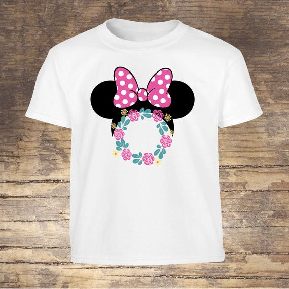 Disney Minnie Flower and Garden Mouse tshirt toddler kids girls shirts onesies