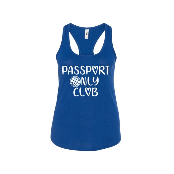 Passport Only Club Travel Junkie women traveler tee tanktop shirt