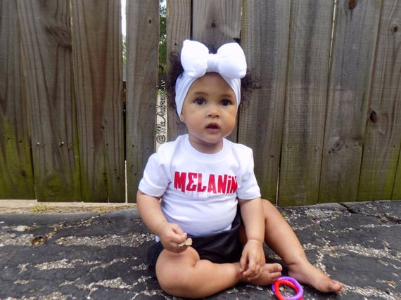 Melanin tshirt toddler kids girls  shirts