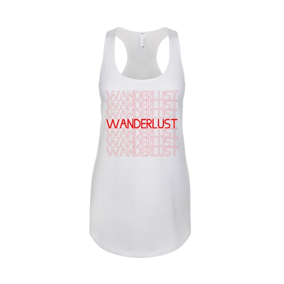 Wanderlust Travel women traveler tee tanktop shirt