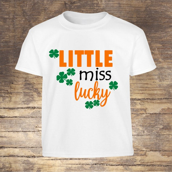 Little Miss Lucky St Pattys Day tshirt toddler kids girls shirts onesies