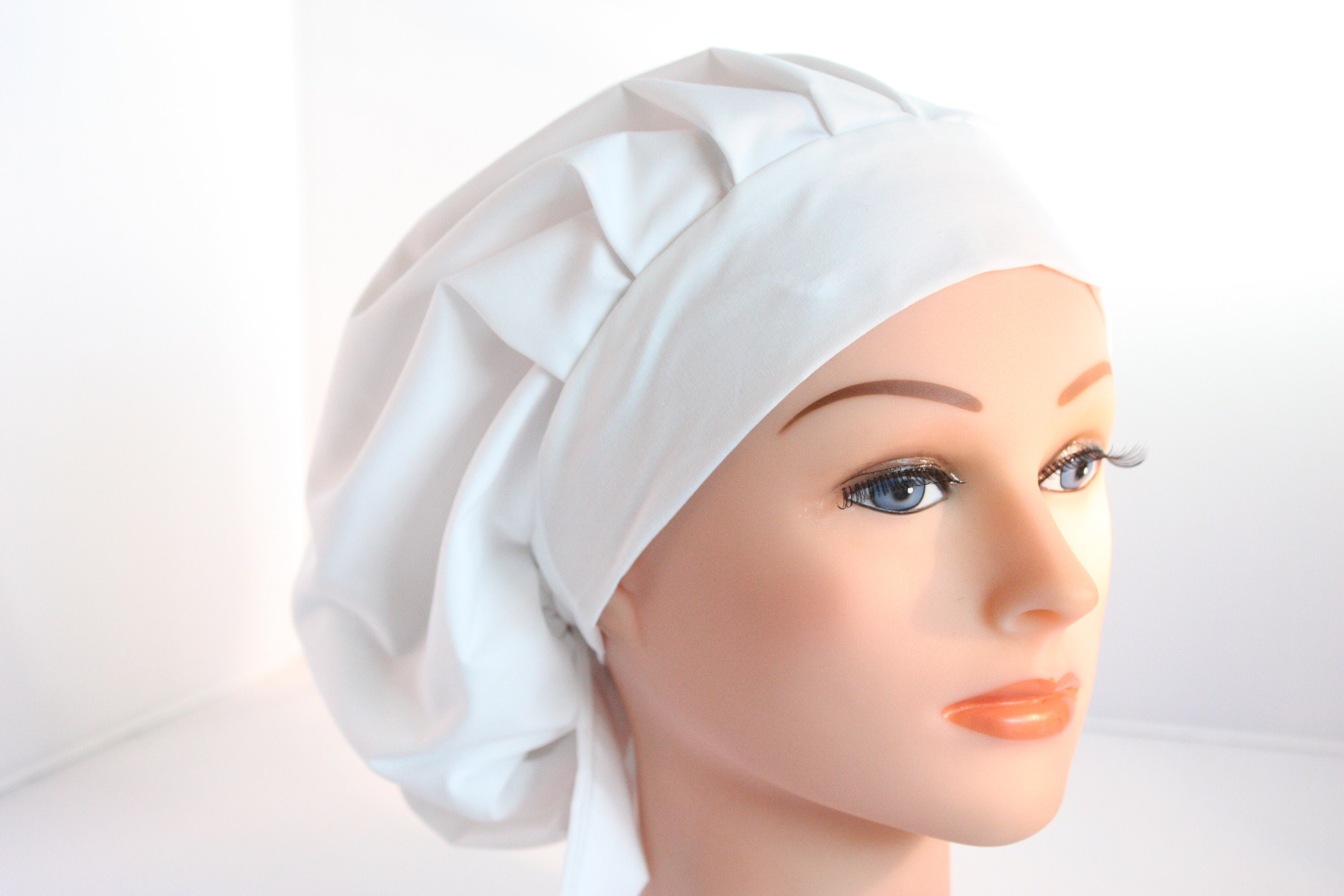 Scrub Cap Surgical Bouffant Hat Chef Dentist Hat Tie Back