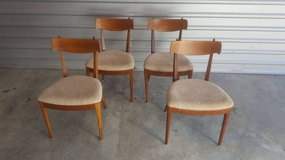 Vintage Mid Century Drexel Dining Chairs Kipp Stewart For