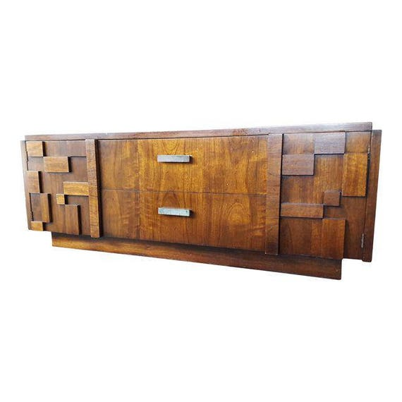 SALE Vintage Lane Furniture Staccato Mid-Century Brutalist Credenza
