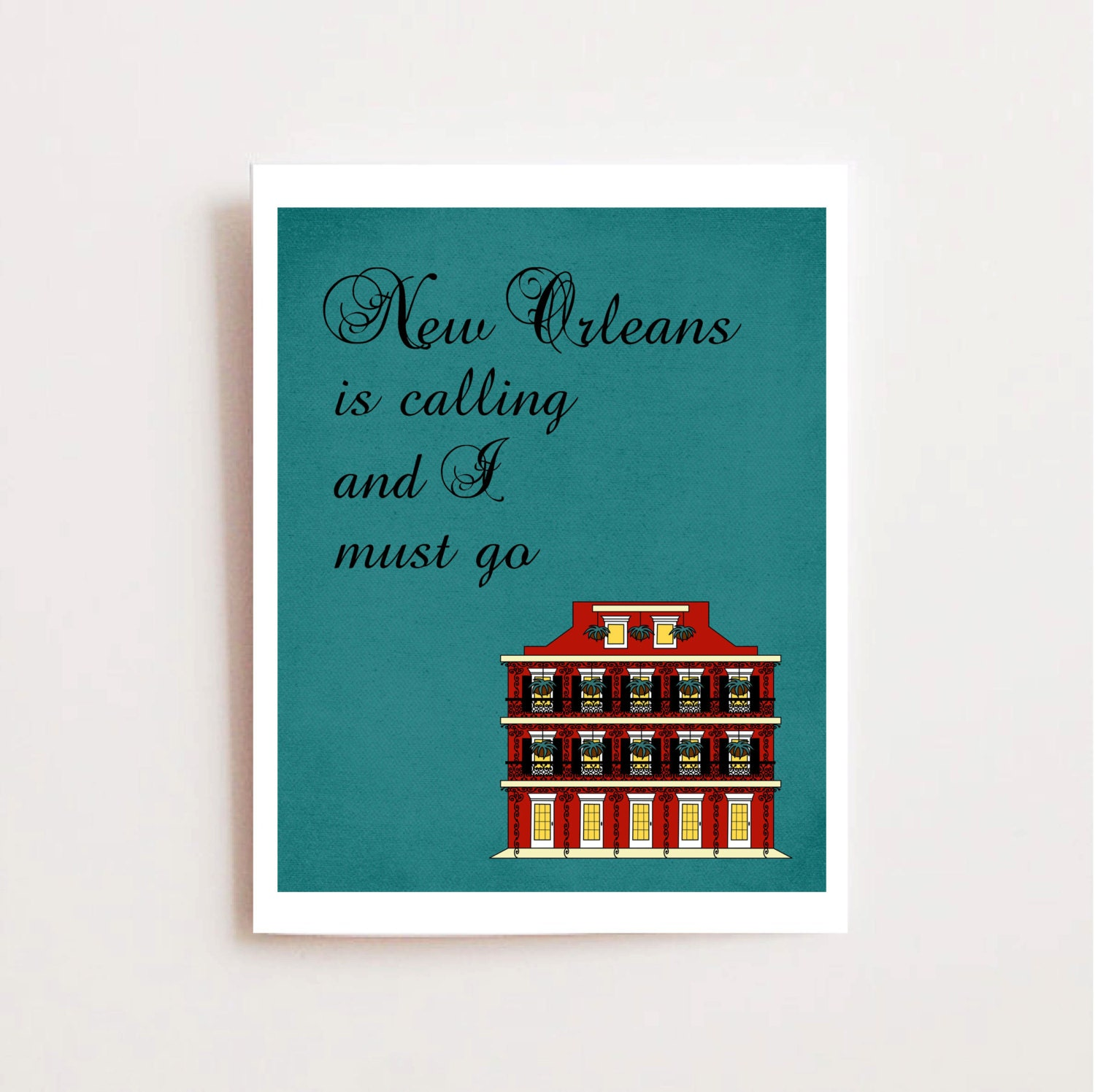 French Quarters Apartments: New Orleans Art Printable French Quarter Apartment