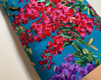 Kaffe Fassett Fabric Collective Phillip Jacobs 100/%  Quality Cotton Yardage PWGP169 Row Flowers in Dark