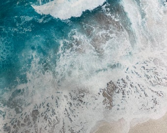 Ocean Fabric  - Hoffman Fabrics - Beach Ocean Waves - 100% Quality Cotton Rare by 1/4 Yd and Yardage