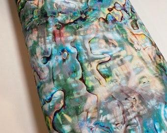 Shell Fabric  - Opal R4667.132 -Beach Ocean - Hoffman Fabrics -100% Quality Cotton  by the Yard and Yardage