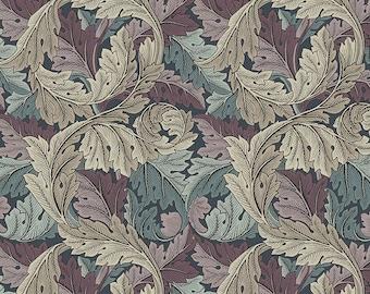 William Morris Fabric Standen ACANTHUS in Dusk Pattern PWWM027 Original Morris Co. FreeSpirit Fabrics -100% Quality by 1/4 Yard or Yardage