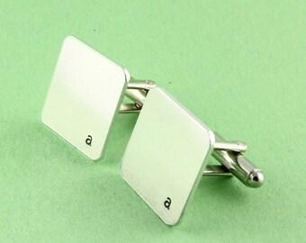 Initial Cufflinks - Monogram Cufflinks - Custom Square Cuff Links - Personalized Cufflinks - Father's Day Gift for Dad - Shirt Fasteners