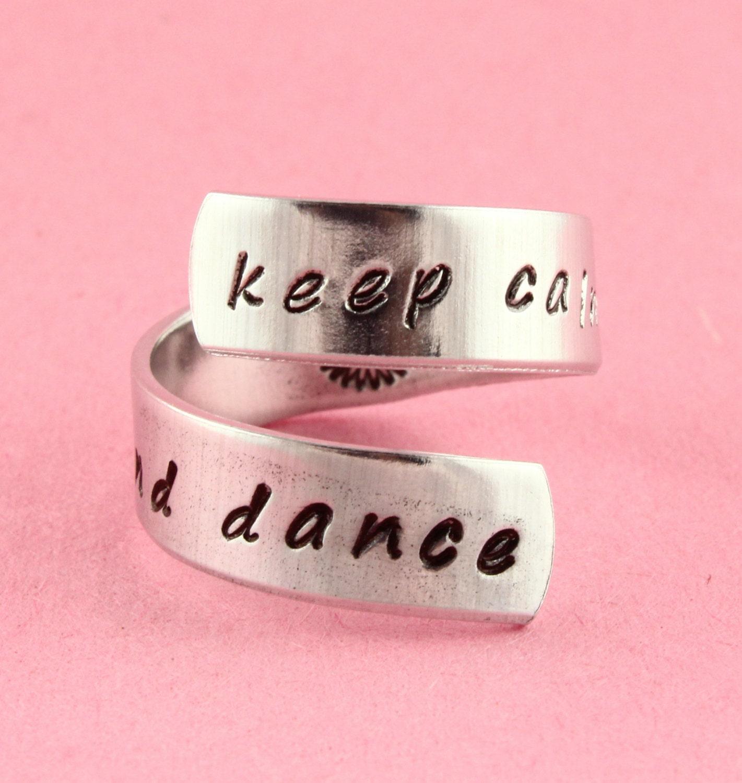 Keep Calm and Dance Ring Gift for Ballerina Ballet Gift | Etsy
