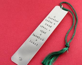 Teacher Bookmark - Personalized Bookmark - Thank You Gift For Teacher - Gift From Student - Teacher Book Mark - Custom Bookmark