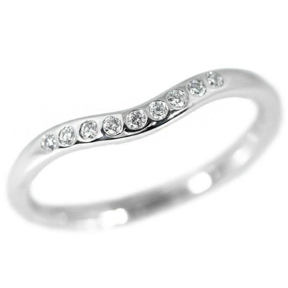 TIFFANY & Co. Platinum Elsa Peretti Diamond 2mm Cu